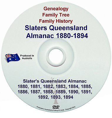 Family History Genealogy Queensland Slaters Almanac Towns Names Directory 1880