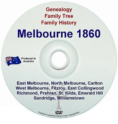 Family History Genealogy Sands Directory Names Suburbs Streets Melbourne 1860 CD