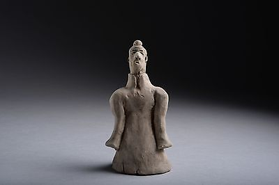 Ancient Chinese Han Dynasty Terracotta Sleeve Dancer - 206 BC