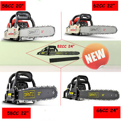 New Petrol Commercial Chainsaw E-Start Garden Tree Pruning Saw 58/62/66/88CC AU