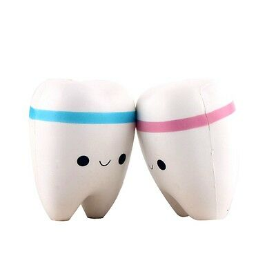Cartoon Smile Tooth Pendant Toy Squishy Squeeze Slow Rebound Cell Phone Strap UK