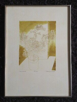 "JOHN BRUNSDON RE (1933-2014) ""Moonshine"" Limited Edition ETCHING 34/100"