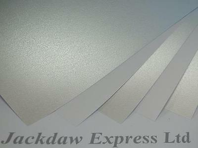 Silver Mist Pearl Pearlescent Paper A4 1-Sided 130gsm x 20 Cardmaking AM830