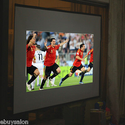 """Portable 72""""Inch 16:9 Fabric Matte Fixed Projector Screen Wall Mount Home Cinema"""