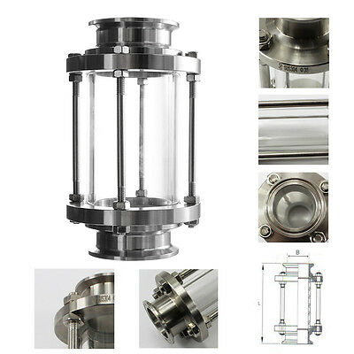 """2"""" Multiple 304 Stainless Steel Sanitary Fitting Tri Clamp Type Flow Sight Glass"""