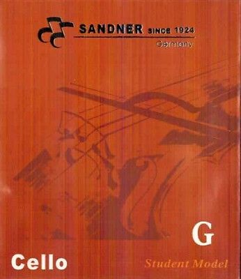 German Sandner Cello G String Steel Core For 3/4 and 4/4 Size