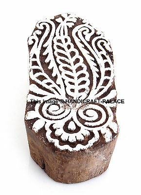 Wooden Stamp Indian Hand Carved Wood Crafted Art Decorative Women Printing Block