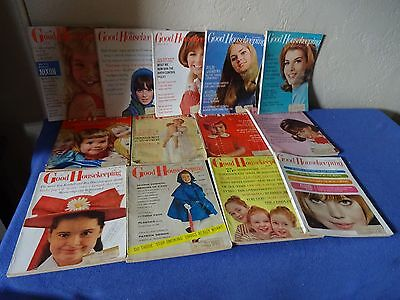 13 GOOD HOUSEKEEPING MAGAZINES FASHION-BEAUTY-NOSTALGIA 50s 60s - 5-8-1