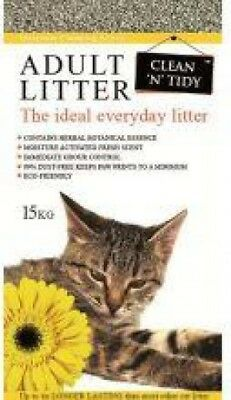 Clean 'n' Tidy Adult Everday Scented Odour Control Cat Litter | 15KG