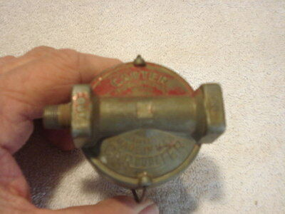 Early Carter Sediment Bowl Fuel Filter 1930s-40s Chrysler Products, Packard Nash