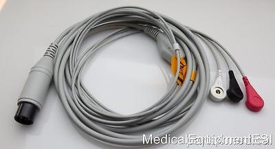 NEW 3 Lead ECG Patient Cable ZOLL E M & R Series 8000-0025