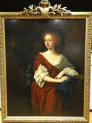 Huge 17th Century English Old Master Lady Countess Portrait Sir Peter Lely