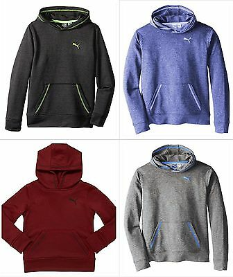 PUMA Kids Boys Heathered Hoodie Pullover Sweatshirt 4 COLORS AVAILABLE MSRP $44