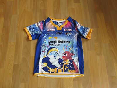 ISC LEEDS Rhinos Building Society LIMITED Edition RARE Xmas Top CHILD Age 10