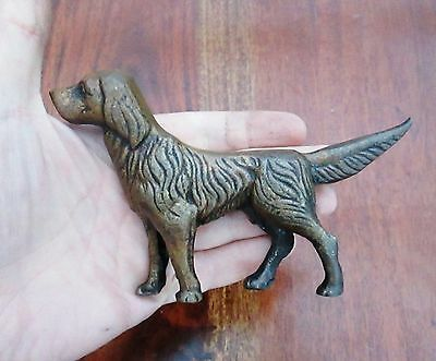 Antique English Bronze Staute Of A Hunting Dog - Beautiful - Great Character