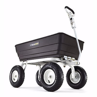 Gorilla Carts Heavy Duty Yard Cart up to 1000 lbs w/ Bonus Picnic Tray - Black