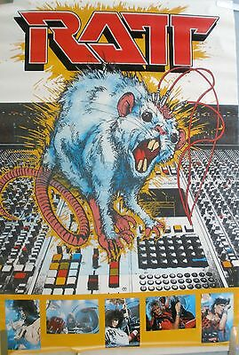 Rare Ratt Out Of The Celler 1984 Vintage Original Music Poster