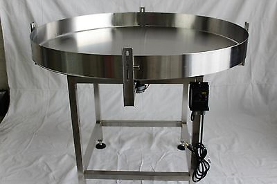 """New Accumulation Rotary Table 48"""" Diameter-Stainless Steel-Made In The Usa"""