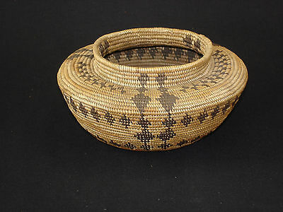 A Mono Paiute Bottleneck, Native American Indian basket, circa: 1910