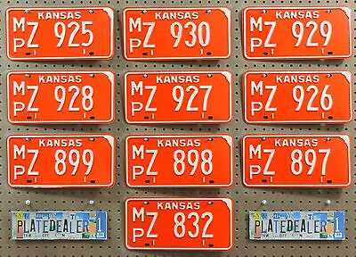 10 KANSAS Red Vintage 1974 License Plates Tags Signs Man Cave Decor Art LOT 925