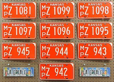 10 KANSAS Red Vintage 1974 License Plates Tags Man Cave Decor Art Signs LOT 081