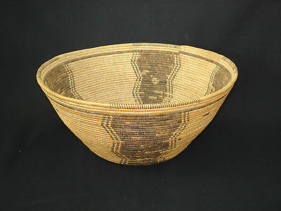 An early tightly-woven Panamint basket, Native American Indian, Circa: 1900