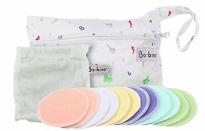 Nursing Breast Pads for Breastfeeding | Reusable + Washable | Organic Bamboo |