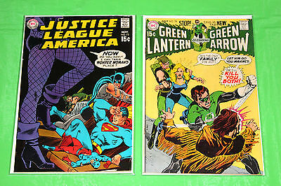 Justice League of America 75 F 6.0 – 1st Black Canary & Green Lantern 78 F 5.5