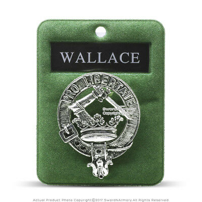 Clan Wallace Scottish Crest Badge Brooch Pin for Clothes Costume Gift Souvenir