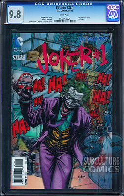 Batman 23.1 Joker #1 Cgc 9.8 - 3-D Lenticular Cover - Sold Out - First Print