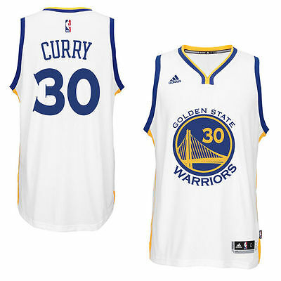 Men's Golden State Warriors Stephen Curry #30. White Player Swingman Home Jersey