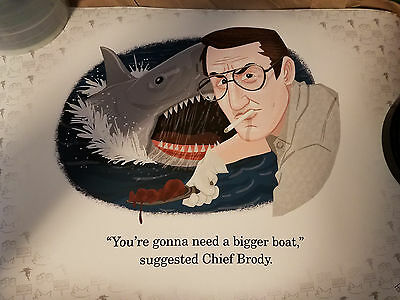 "Josh Cooley Limited Edition ""Jaws"" signed and numbered! #14 of 100"