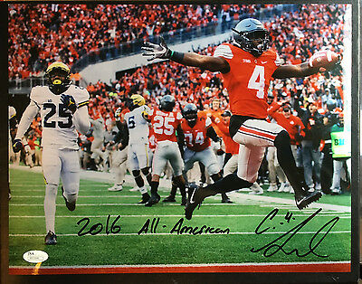 Curtis Samuel Signed 11x14 Ohio State Game Winning TD 2016 All American JSA