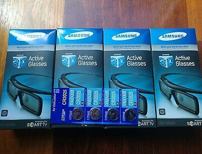GENUINE 4 x  SAMSUNG 3D ACTIVE  GLASSES  ssg-3100gb / ssg-3050gb+ free batteries