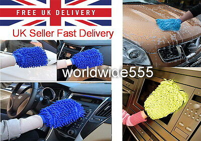 Microfibre Super Glove Car Van Surface Dust Cleaning Washing Noodle Mitt Gloves