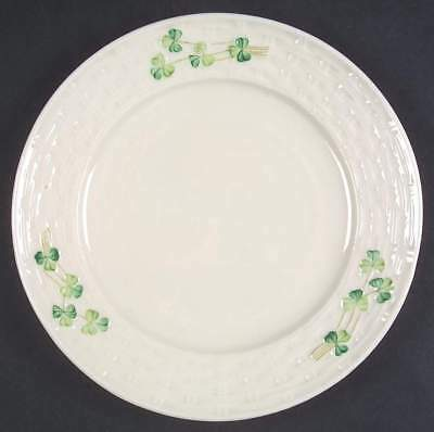 Belleek SHAMROCK Salad Plate (Brown Backstamp) 6056755