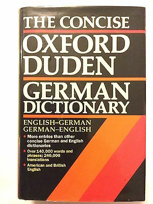 The Concise Oxford Duden German Dictionary (Hardcover)