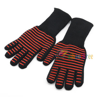 Premium Certified 932°F/500°C Oven BBQ Kitchen High Temperature Protector Gloves