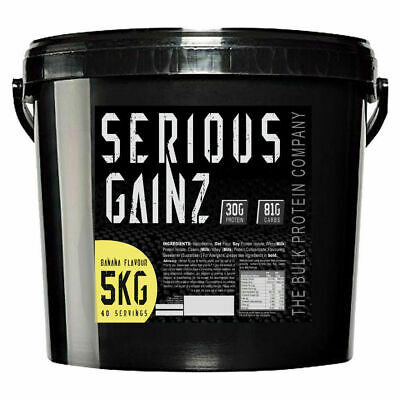 Serious Gainz Weight Gainer 5kg Elite Mass Gainer Whey Protein Powder Shake