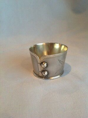 Amazing Napking Ring in shape of a Cuff, Sterling Silver 1900