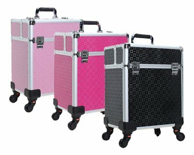 Professional Beautician Trolley Cosmetic Case Large Portable makeup suitcase box