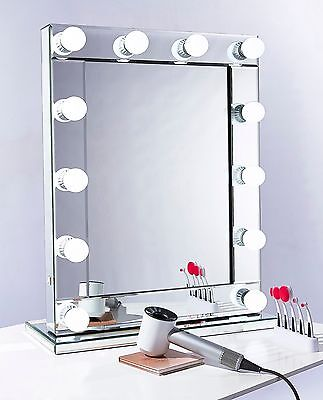 Hollywood LED Makeup Vanity Mirror Light Professional Glass Mirrors