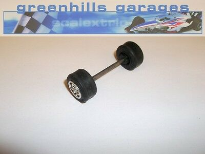 Greenhills Scalextric Ford Escort XR3i Front axle wheels and tyres – Chrome