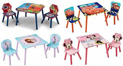 Choose From Character & Disney Table & Chairs, Minnie, Frozen, Cars, Paw Patrol