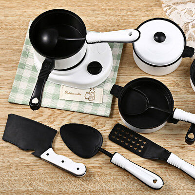 11pcs Simulation Kitchen Cookware Pretend Role Play Toy for Kids