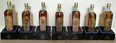 Johnnie Walker Blue Label Private House Zodiacs set of 7 - Extremely Rare!