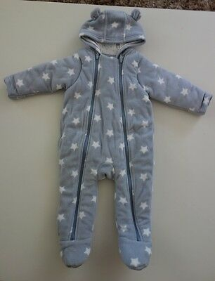 Marks and Spencer Unisex Fleece Pramsuit size 6-9 months