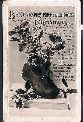Philco Postcard Christmas Wishes For My Old Pal's C1914 From A Boot - Belgrave