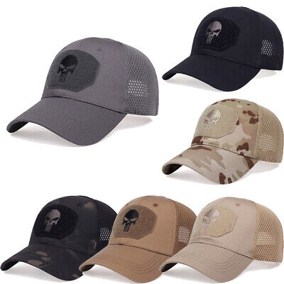 Mens Deus Embroideried Mesh Baseball Cap Summer Sun Trucker Snapback Dad Hat