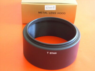 New! Metal Tele 67mm Screw-in Lens Hood
